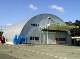 製品倉庫 ドーム型 施設 建築 設計 倉庫 畜舎 工場 宝和工務