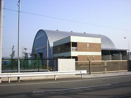 鉄骨構造折板葺き ドーム型 施設 建築 設計 倉庫 畜舎 工場 宝和工務