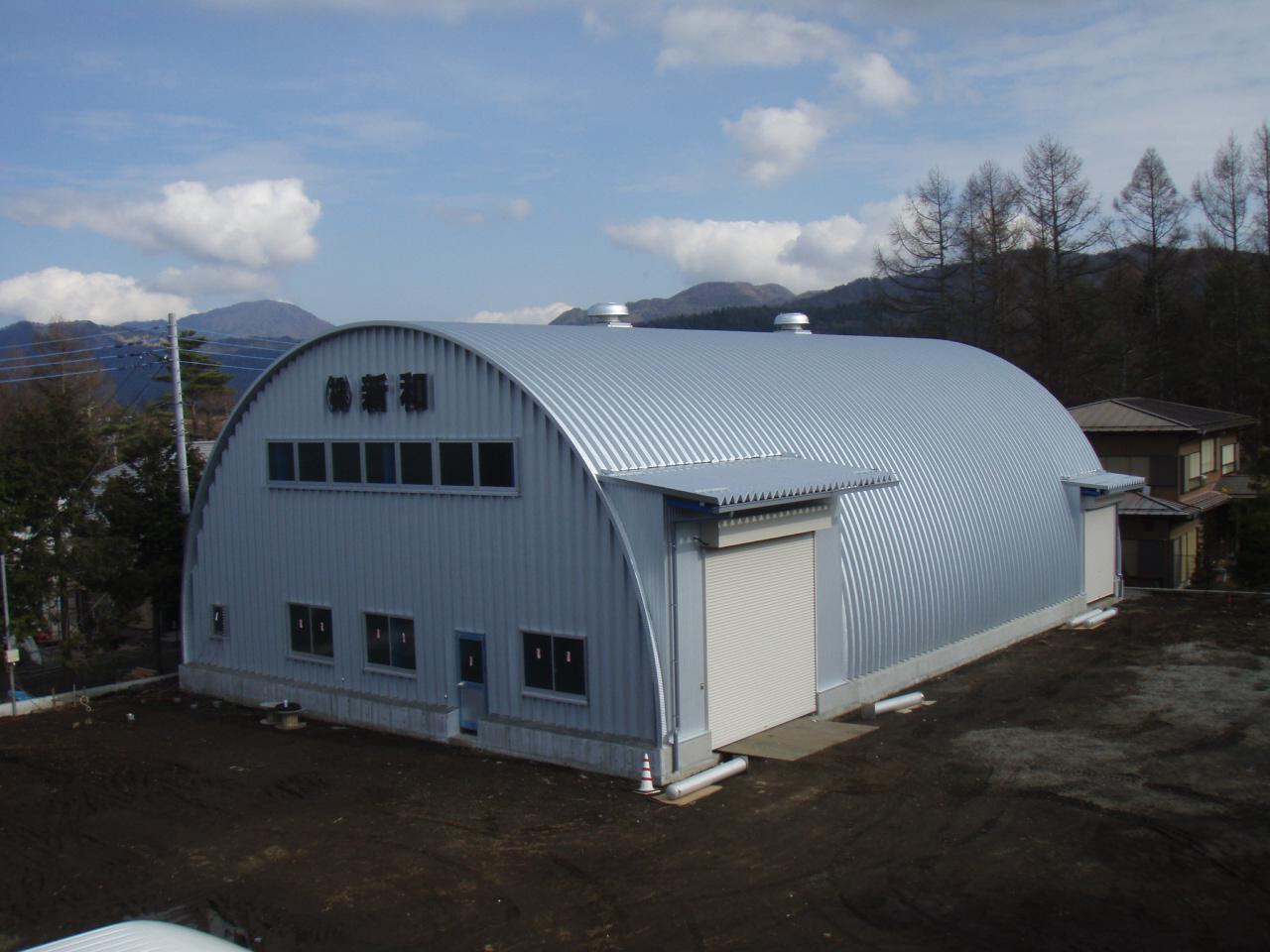 ドーム型 施設 建築 設計 倉庫 畜舎 工場 宝和工務